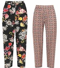 Ladies Floral Paisley Printed Loose Trouser Womens Fancy Stretch Pocket Pants