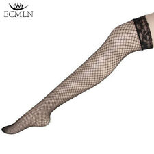 Women Sexy Fishnet Stockings Thigh High Over Knee Sheer Lace Long Socks Hosiery