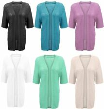 Ladies Short Sleeve Crochet Net Knitted Cardigan Womens Casual Party Wear Top