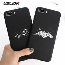 Phone Case For iPhone X Matte Full Cover For iPhone 7 8 6 6s Plus Mountain Stars