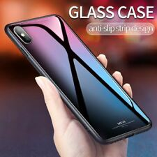 iPhone X Glass Case for iPhone X Coque Silicone Shock Proof Luxury Slim Tempered