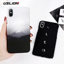 Phone Case For iPhone X Mount Fuji Cases For iPhone 7 8 6 6S Plus Moon Stars Pat