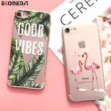 Silicone Case For iPhone 7 7Plus 6 6S 6Plus 5 5S SE Case Soft TPU Cover Flower L