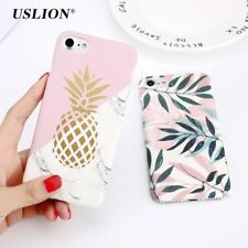 Flower Leaf Print Phone Case For iPhone 7 7 Plus Pineapple Marble Hard PC Cover