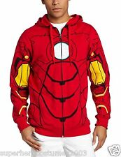 Avengers Age Of Ultron Iron Man Sudadera con Capucha Marvel Comics Manga Larga