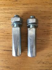 PAIR BIKE COTTER PINS FOR VINTAGE BICYCLE COTTER PINS STANDARD 9.5mm MILLED NOS