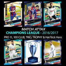 Match Attax 2016/2017 PRO 11 & 100 Hundred Club Champions League 16/17
