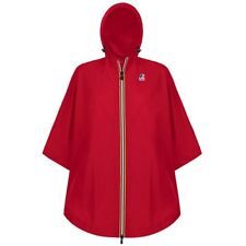 K-WAY KWAY LE VRAI 3.0 MORGAN MANTELLA PONCHO IMPERMEABILE BAMBINI Rosso K08ahed