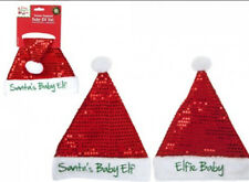 Christmas baby hats sequinned with slogan embroidery baby elf fancy dress hat