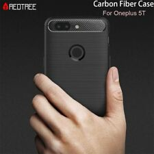 Brushed Silicone Carbon Fiber Cases for Oneplus 5T Shockproof Soft TPU Smartphon