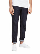 Jack & Jones Jeans Uomo Mike Comodi Stretto Gamba Pantaloni Denim Blu Scuro