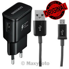 SAMSUNG CARICABATTERIE ORIGINALE EP-TA20EBE FAST CHARGING MICROUSB BLACK 000375A