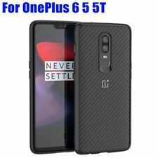 Case For Oneplus 6 5T Fashion Official Carbon Fiber Style TPU + PC Shockproof Co