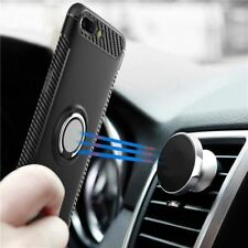 For Oneplus 5T case Magnetic Car Ring Holder Stand Silicone Back Cover For One p