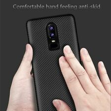 For Oneplus 6 case Luxury Shockproof Carbon Fiber Ultra Thin Soft TPU phone case