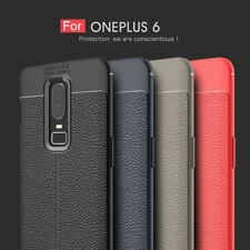 For Oneplus 6 Case Carbon Fiber TPU Silicone leather Soft Full Back Cover For On