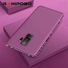 Luxury Solid color Bling diamond Phone Case for Samsung Galaxy Note 8 S7 S7edge