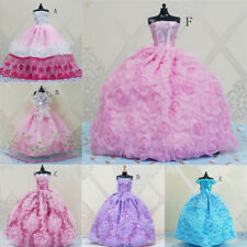Handmade Princess Wedding Party Dress Clothes Gown For Barbie Dolls Gift QZZY