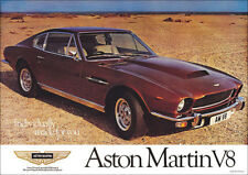 Aston Martin Vintage Showroom Advertising Picture Print Poster V8 DBS Brown