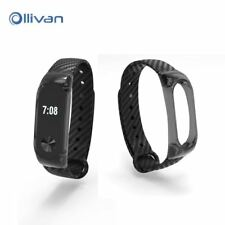 Silicone Crystal Carbon Fiber Strap For Xiaomi Mi Band 2 Smart Wristband Smart b