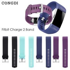 Replacement Wrist Strap Bracelet Soft Silicone For Fitbit Charge 2 Band Watch Ch