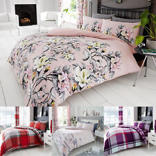 Duvet Cover Sets Reversible Printed Quilt Bedding Pillowcases Single Double King