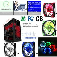 DC 12V 120mm 3 Pin + 4 Pin LED Brushless PC Computer Case Cooler Cooling Fan a@