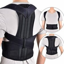 Unisex Adjustable Magnetic Posture Corrector Corset Back Support Brace Belt a@