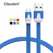 USB Cable Micro USB 2.0 Cable Sync Charging Flat Noodle Mobile Phone Cables For