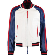 TOMMY HILFIGER Leather Bomber Jacket - Contemporary Bomber Jacket RRP: £840.00