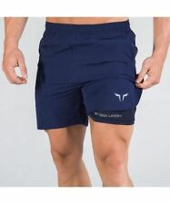 Squat Wolf 2-in-1 Dry Tech Shorts Blue