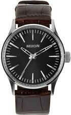 NIXON - Sentry Leather 38 - Brown/Black/Silver 1887