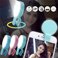 Portable Selfie LED Phone Ring Flash Fill Light Clip Camera For iPhone Samsung K