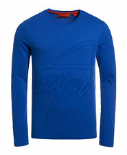 New Mens Superdry Factory Second Crew Long Sleeve T-shirt Royal Blue