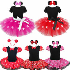 Toddler Kids Girls Cartoon Mouse Princess Party Skirt Tutu Dress Outfit Costume