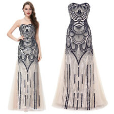 GK Women Sexy Strapless Sequined Tulle Netting Party Cocktail Lace-Up Dress
