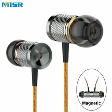 Wired In-Ear Earphone Metal Headset Magnetic with Mic Microphone Stereo Bass for