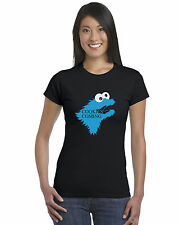 Game Of Thrones Cookie Monster Parodia T-Shirt Aderente da Donna Stark