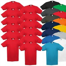 12 X Paquete V-Neck Camisetas Fruit Of The Loom Valueweight Cuello Pico Nuevo