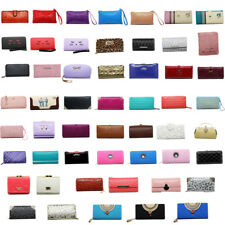 Purse Women Wallet Leather Vintage Style Patterned Black Brown Blue Pink White