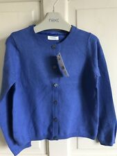 BNWT Next Cardigan. Soft. Girls. Royal Blue. Age 5 - 9 Years. Lightweight