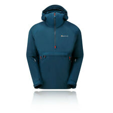 Montane Mens Hydrogen Extreme Smock Navy Blue Sports Outdoors Half Zip Hooded