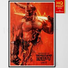Hellboy 2019 Movie Dark Horse Comics Poster | A4 A3 A2 A1 | Wall Decal