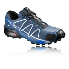 Salomon Speedcross 4 Mens Blue Water Resistant Trail Running Shoes Trainers