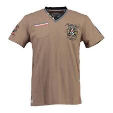 58936 GEOGRAPHICAL NORWAY T-SHIRT UOMO JALIUM TAUPE GEOGRAPHICAL NORWAY