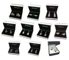 Music Instrument Cufflinks ( Acoustic Guitar, Trumpet, Piano, Violin etc)
