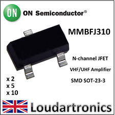 ON Semiconductor MMBFJ310 J310 VHF/UHF RF Ampliier  N-Channel JFET SOT23-3