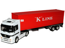 """Mercedes-Benz Actros 1857 40' Container """"K"""" Line LKW Truck Weiss Rot 1/32 Well.."""