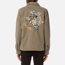 Superdry Womens Rookie 4 Pocket Patch Pale Olive Jacket embroidery Worldwide