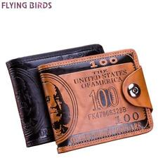 Flying birds men Wallet short dollar price Leather Wallets Clutch money purse me